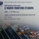 XI FORUM REGIONE AQUILEIESE: a Udine   per continuare a riflettere sull'Europa .