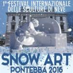 EVENTI INTERNAZIONALI: SNOW ART PER LA PRIMA VOLTA A PONTEBBA