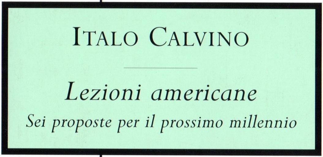 LEZIONE AMERICANE ITALO CALVINO EBOOK DOWNLOAD
