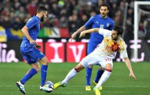 ITALIA SPAGNA 1-1. UN RICORDO ALLE VITTIME DI BRUXELLES