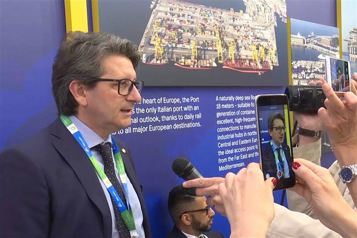 Zeno D'Agostino (Presidente Autorità Sistema Portuale Mare Adriatico Orientale) alla Fiera Transport Logistic - Monaco di Baviera 10/05/2017