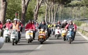 EUROLAMBRETTA JAMBOREE , l'autodromo di Adria invaso per il raduno dello scoppiettante scooter